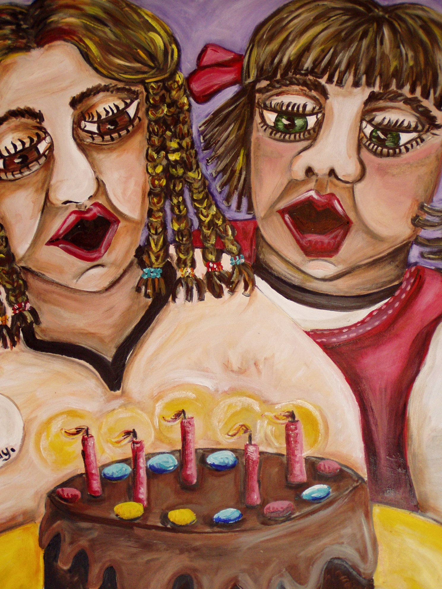 Blowing out the candles-Deborah French