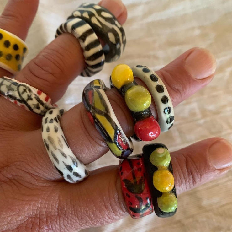 Rings, bangles and necklaces
